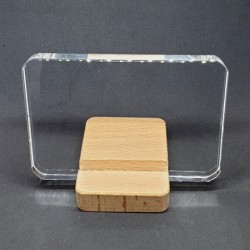 Stojan dřevěný pro plochá skla