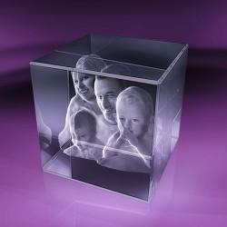 Fotky ve skle | kostka 10x10x10 cm