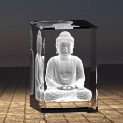 3D budha meditující