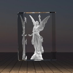 3D anděl s plamenem života