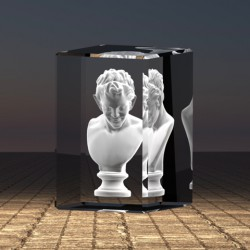 3D bysta Satyr