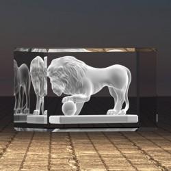 3D socha lva