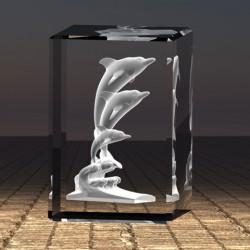 3D socha delfínů