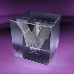Fotky ve skle | kostka 4x4x4 cm