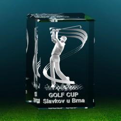 3D golfista