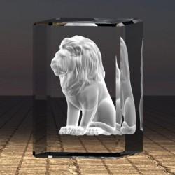 3D socha sedícího lva