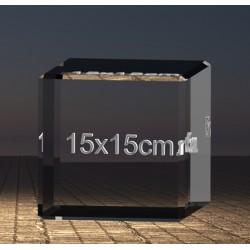Fotky ve skle | kostka 15x15x15 cm