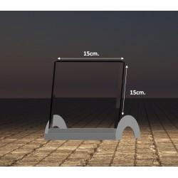 2D sklo 15x15 cm s LED podstavcem