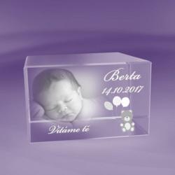 2D fotky ve skle | Narození miminka 2