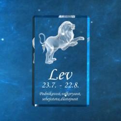 3D znamení ve skle | lev