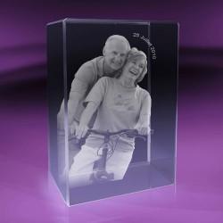 2D Fotky ve skle | kvádr 6x9x3 cm