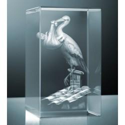 3D skleněný dárek | čáp luxusní edice