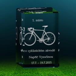 3D skleněný fotodárek | cyklistika