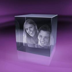 Fotky ve skle | kostka 6x6x6 cm