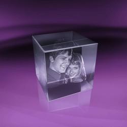 Fotky ve skle | kostka 8x8x8 cm